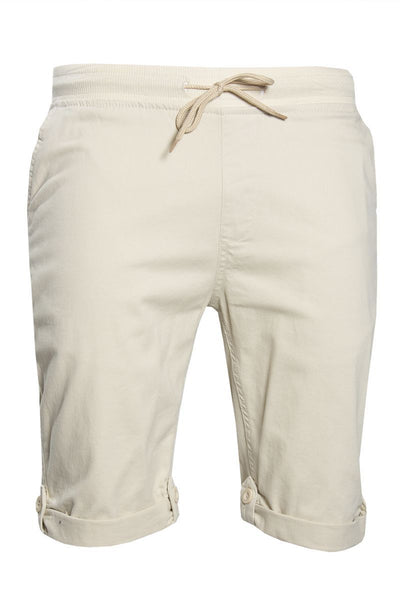 Tied Waist Shorts - Beige Mens Shorts & Capris INTERNATIONAL CLOTHIERS S