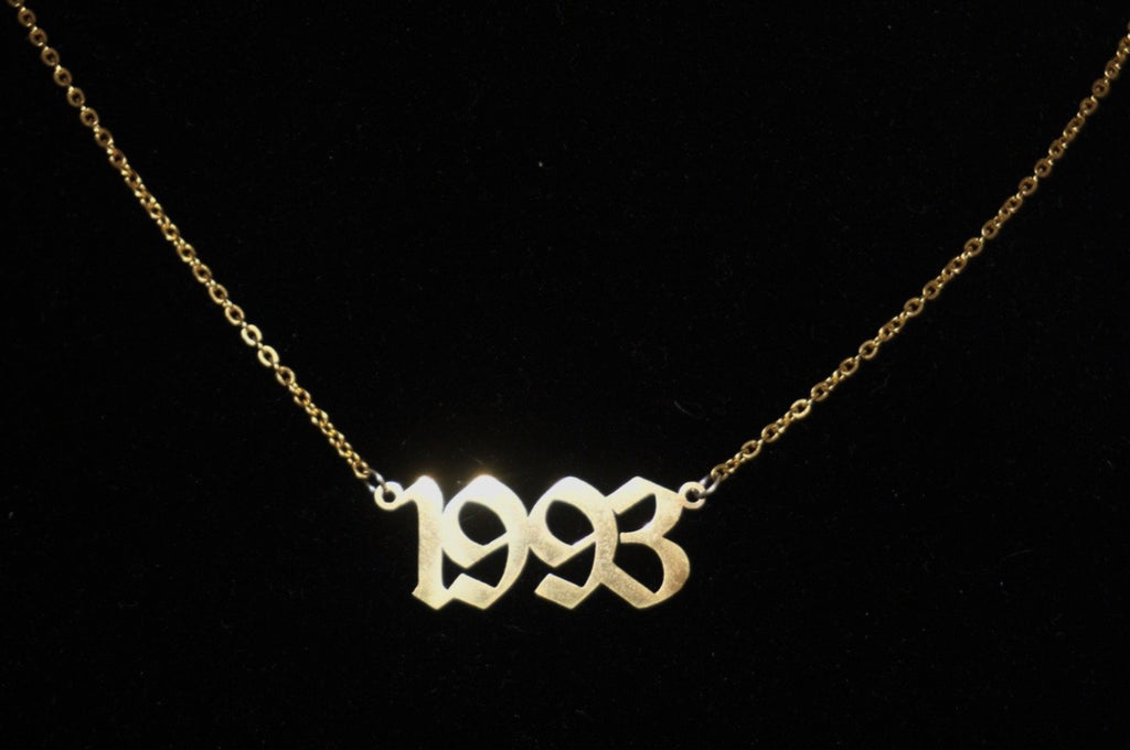 Custom Year Necklace - Twelve 93