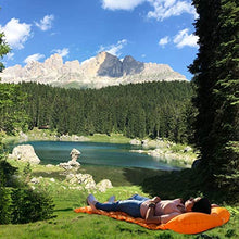 Load image into Gallery viewer, Inflatable Sleeping Pad w/Adjustable Pillow | Portable, Ultralight Compact Travel, Camping Sleep Mat | Cushioned Support | Waterproof