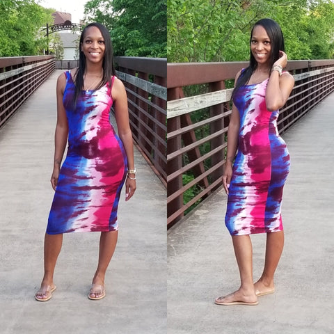 Xiomara Tie-Dye Midi Dress