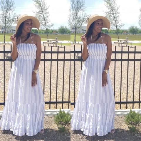Moana Maxi Dress (White)
