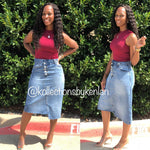 Not So Basic Asymmetrical Denim Skirt