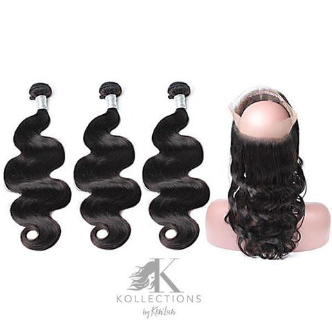 HAIR BUNDLES WITH 360 LACE FRONTAL - GOLD KOLLECTION