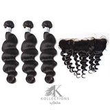HAIR BUNDLES WITH LACE FRONTAL - SILVER KOLLECTION