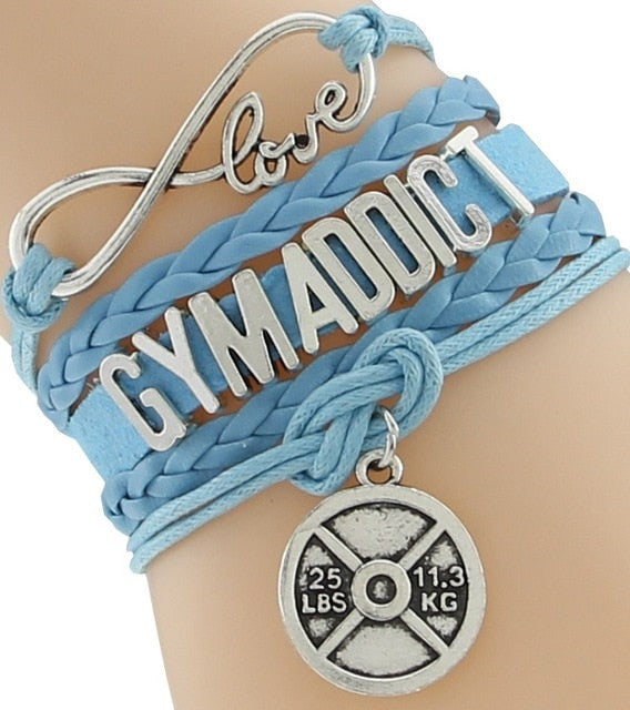 Handmade Gym Addict  wristband