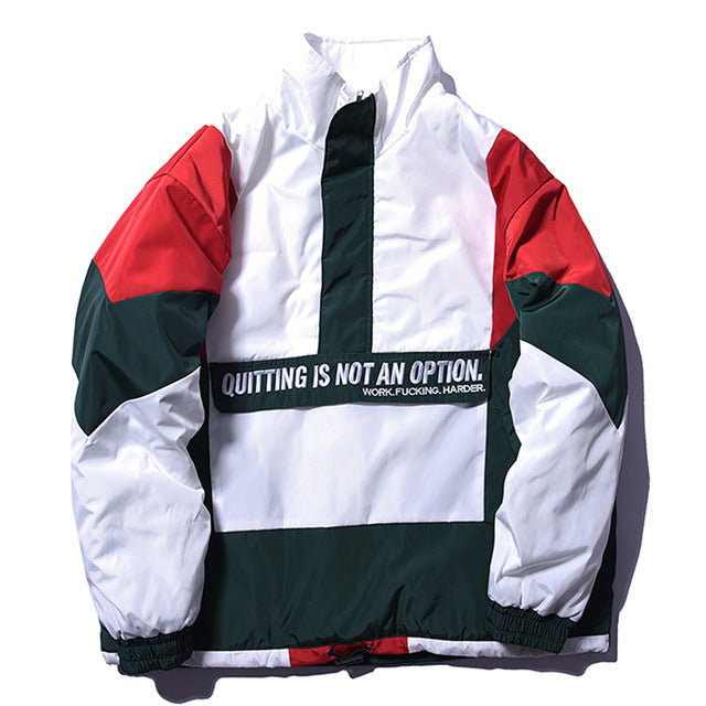 Vintage Colorful Patchwork Windbreaker