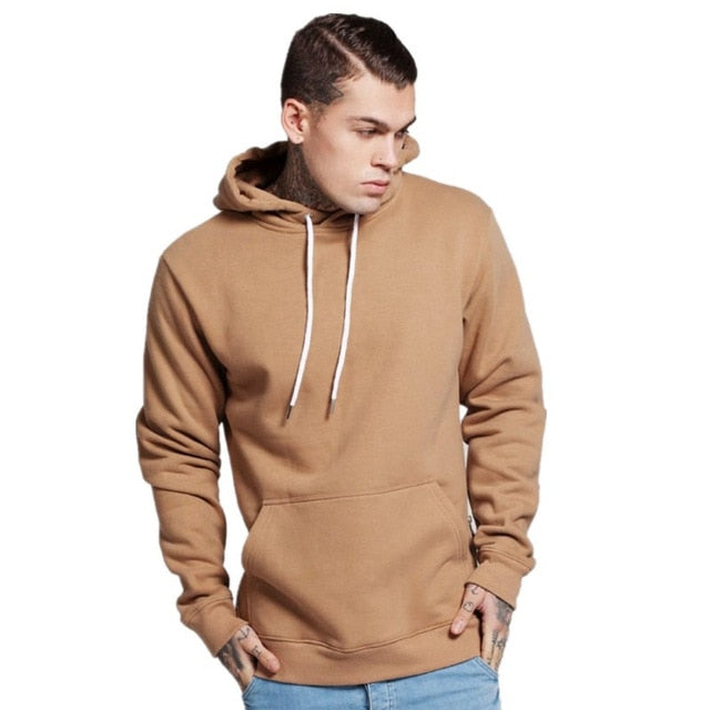 Men's Long Black Hoodies Sweatshirts