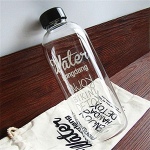 Scented Large Water And Juice Bottle with Bag
