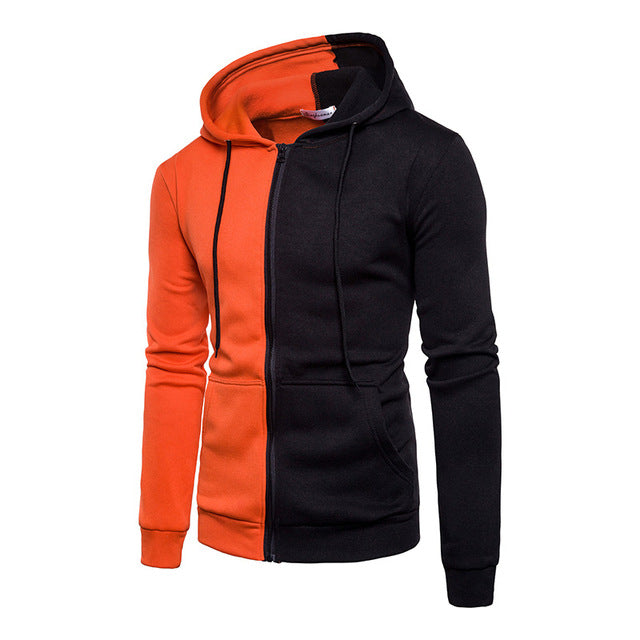 Hooded Sweatshirt Coat Mens