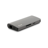 LMP USB-C Travel Dock 4K 9 Ports, space gray