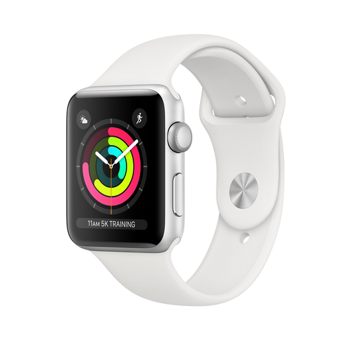 Series 3 42mm Aluminium White Sport Band GPS