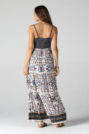 Floral Crochet Detail Maxi Dress