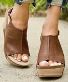 Brown Platform Wedge