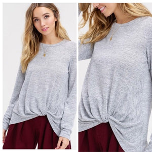 Gray Front twist top