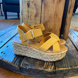 Light Tan Espadrille Platform Sandal