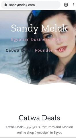 Sandy melak website screenshot catwa deals owner