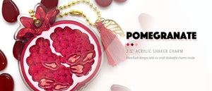 """Pomegranate"" acrylic shaker charms now for sale!"