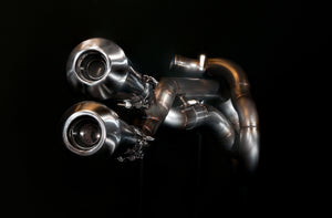 Harley Davidson Sportster Exhaust 'Twisted'  (ex. VAT) - MAD Exhausts