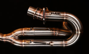 Honda CX GL Scrambler 2 in 1 system - MAD Exhausts
