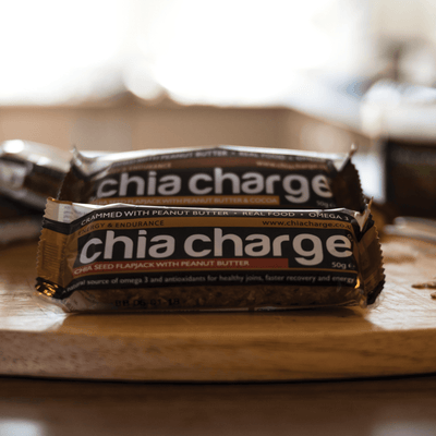 Chia Charge Bars Mixed Box Latest EDITION  - Peanutty Flapjacks Plain and Cocoa  Peanut Flapjacks 10 + 2 EXTRA FREE