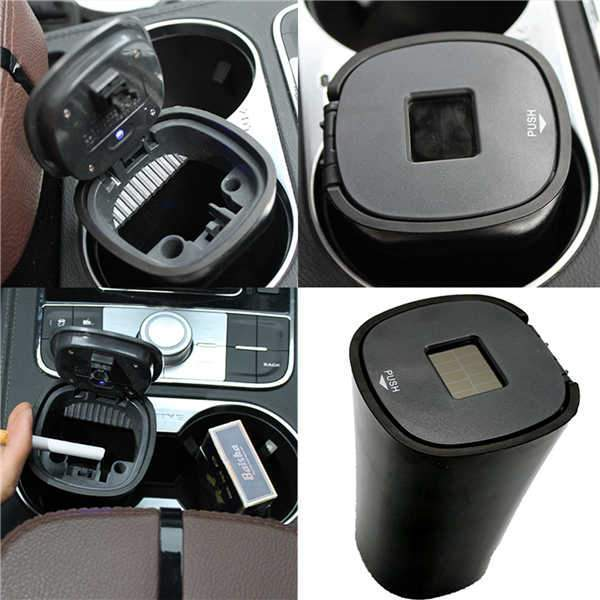Multipurpose Smokeless LED Car Ashtray