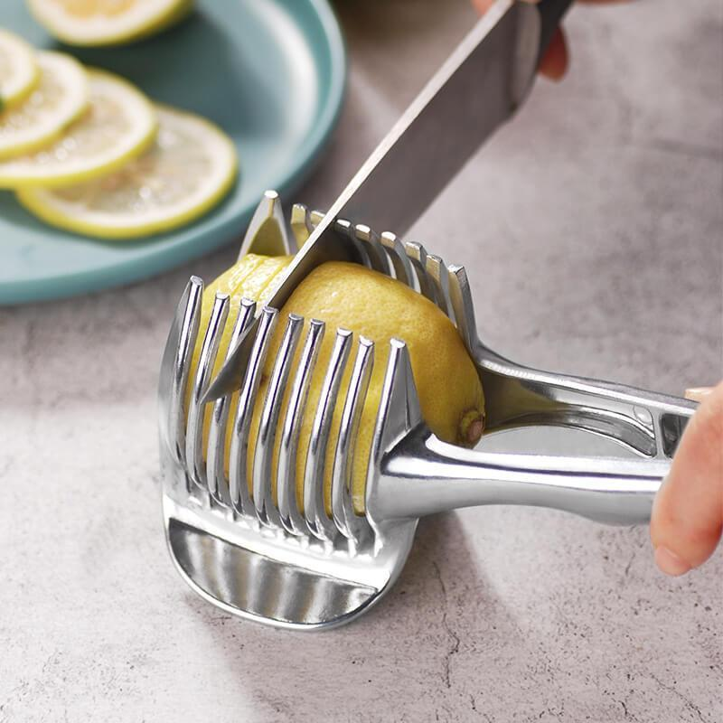 Kitchen Lemon Tomato Slicer Clip Cutting Aid (1/3/5PCS)