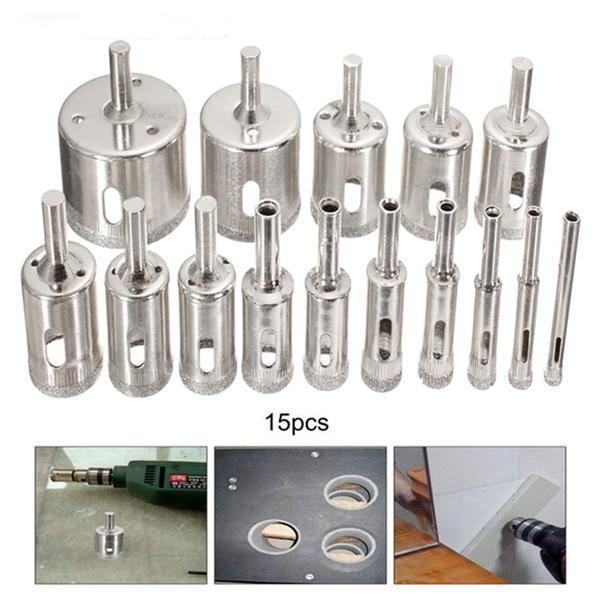 Rhinestone Hole Saw Drill Bit Set