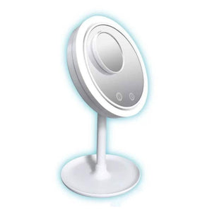 LED Lit With Fan Make Up Mirror