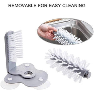 Double-sided Brush Suction Cup Cleaner