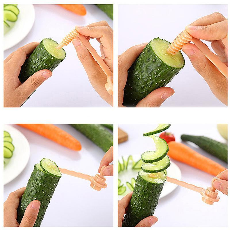 Creative Fruit And Vegetable Manual Curler(2PCS)