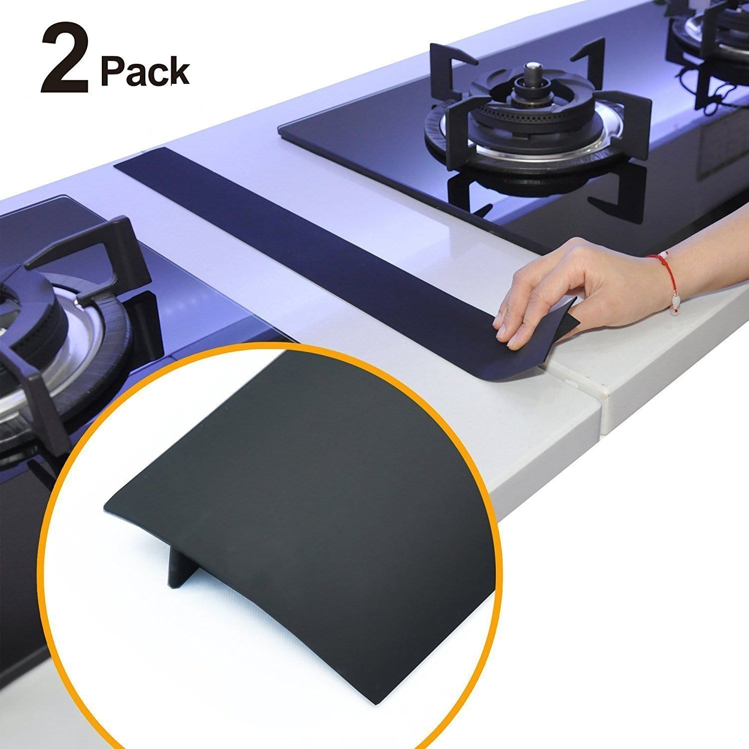 Silicone Stove Counter Gap Cover(2pcs)