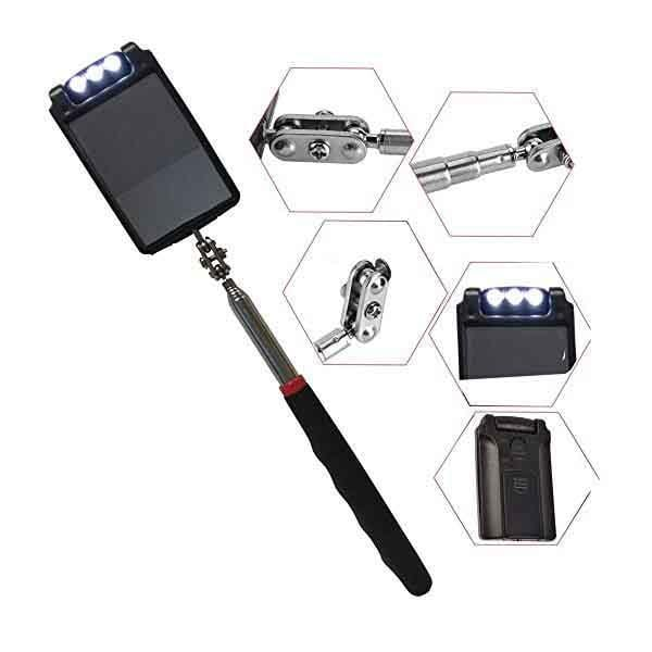 Portable LED Telescopic Inspection Mirror
