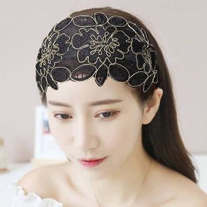 Floral Non-slip Headband with Tooth