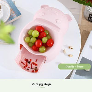 Lazy Fruit Bowl & Garbage Storage