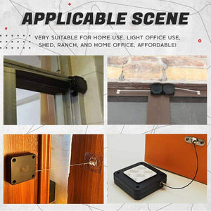 No Hole Glue Installation Auto Door-Closer Punch-Free Automatic Sensor Door Closer Automatically Close for All Doors Auto Door-Closer with Easy Installation