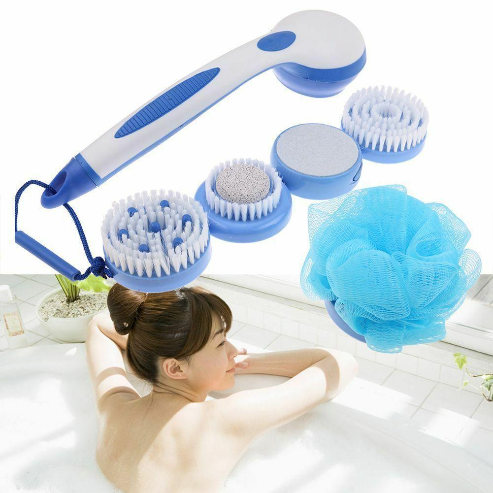 Spin Spa Body Brush with 5 Attachments(1 set)
