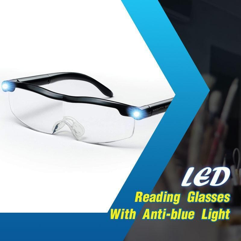 LED Reading Glasses With Anti-blue Light