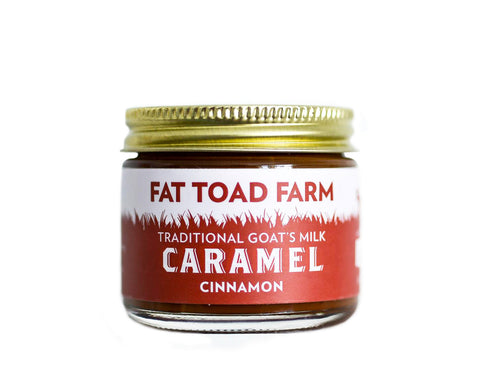 jar of caramel with toad image and red label