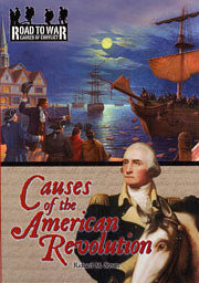 Book cover with image of ships on a lake and George Washington in the foreground
