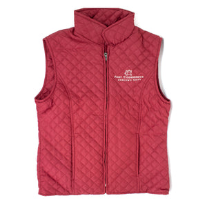 Ladies Quilted Vest in Garnet