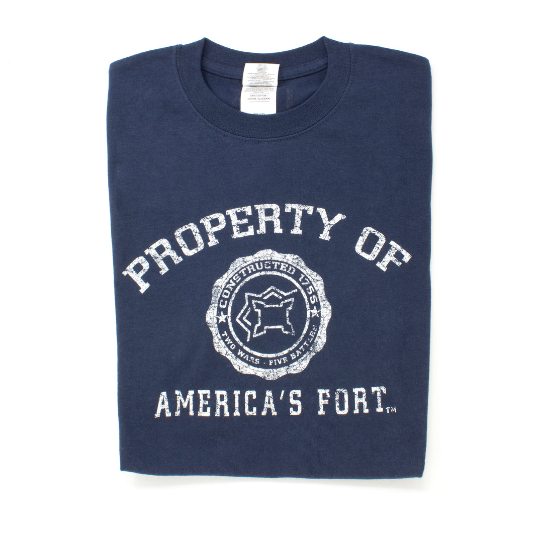 Property of America's Fort T Shirt