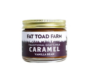 jar of caramel with toad image and purple label