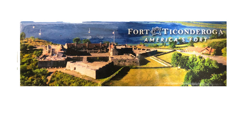 aerial image of fort and lake champlain