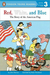 book cover with cartoon characters riding bikes and carrying flag with book title