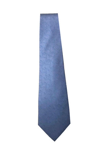blue tie on white background
