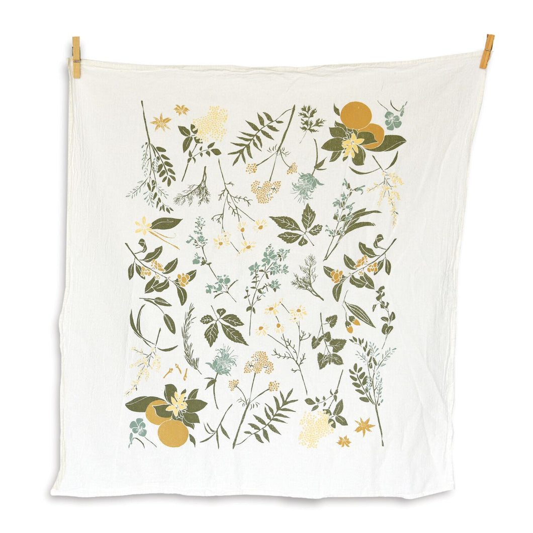 Tea Towel - Herbal Tea Garden