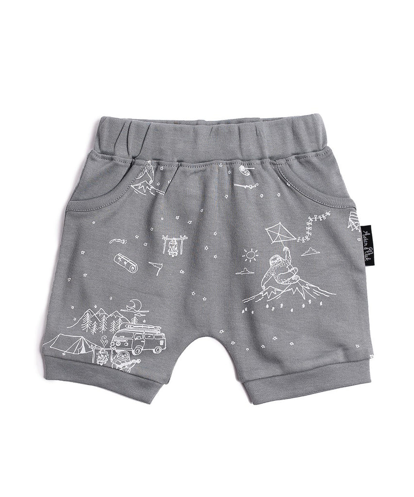 Adventure Sloth Harem Shorts