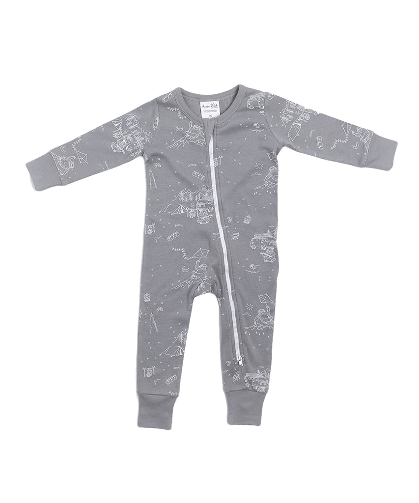 Adventure Sloth Zip Romper