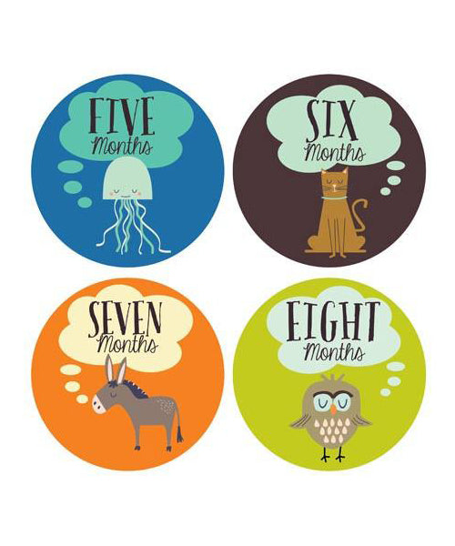 Little Animal Lover Monthly Stickers