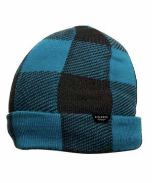 Bale Beanie - Blue Buffalo Check